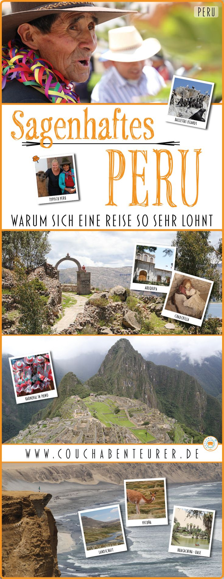 Peru ist ein sagenhaftes Land, was in keinem Fall auf Machu Picchu reduziert werden sollte. Es gibt so unfassbar viel zu entdecken von beeindruckenden Regenwäldern, über atemberaubende Wüsten, mystische Stätten, sowie einer sagenhaften Tier und Pflanzenwelt. Meine Bilder und Geschichten sollen dich inspirieren nach Peru zu reisen und all das selbst zu erleben!  #peru #reise #reiselblog #reiseblogger #reisen #urlaub #ferien #travel #travelblog #travelblogger #arequipa #cusco #machupicchu…