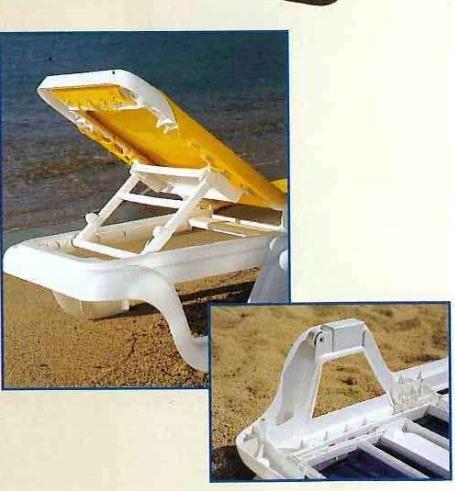 Marina Style Resin Sling Chaise Lounge Chair W/o Arms Custom. #pool #