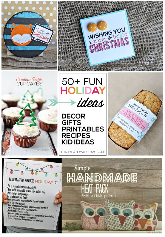 Over 50 Christmas Projects in one spot!! Recipes, gift ideas, printables, more www.thirtyhandmadedays.com