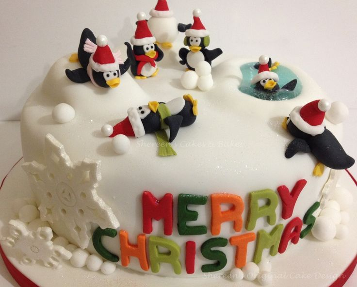 Christmas Cake Decorations Penguins : Penguin christmas cake recipes baked brie