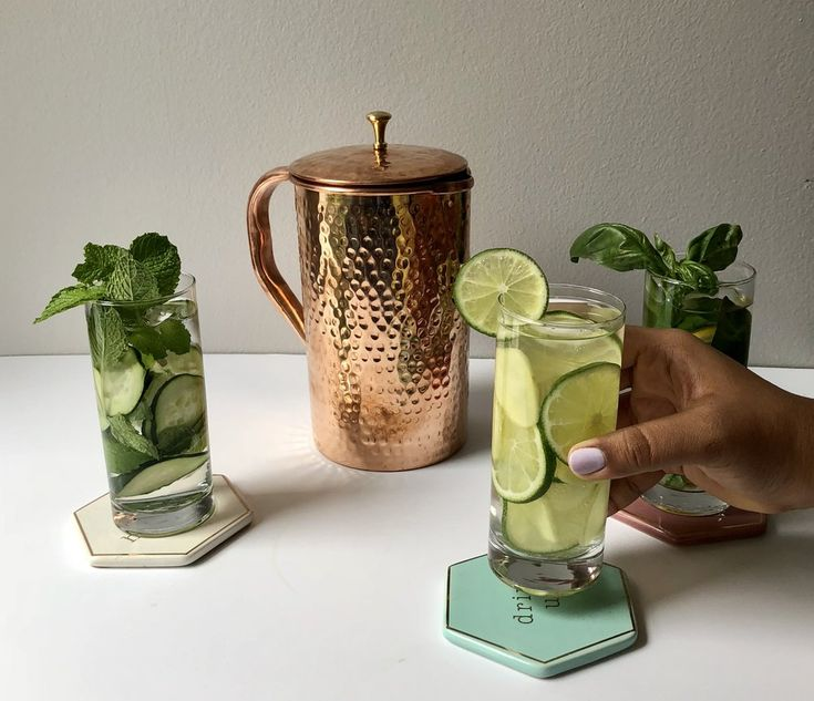 Copper Pitcher Infused Waters