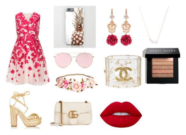"""Untitled #52"" by simranbasi12 on Polyvore featuring Studio 8, Alchimia Di Ballin, Gucci, LMNT, Kendra Scott, Chanel, Dolce&Gabbana, Lime Crime, Bobbi Brown Cosmetics and plus size dresses"