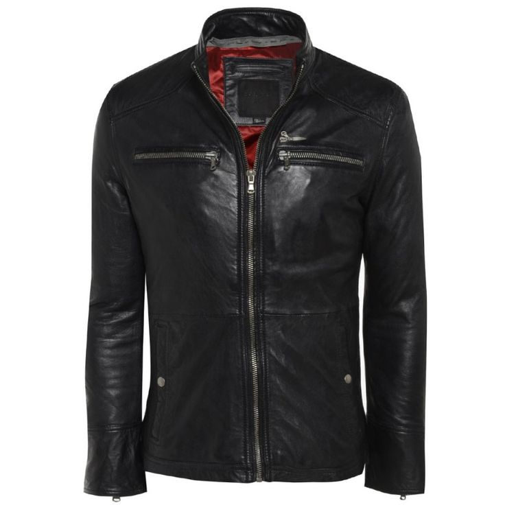Barneys Black Label Men's Classic Leather Biker Jacket £ ...