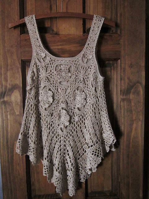 Bohemian Pages: The Little Crochet Top  (So, this must be why I am drawn to crochet tops - must be the Bohemian in me! Will I ever learn how to make them myself?)