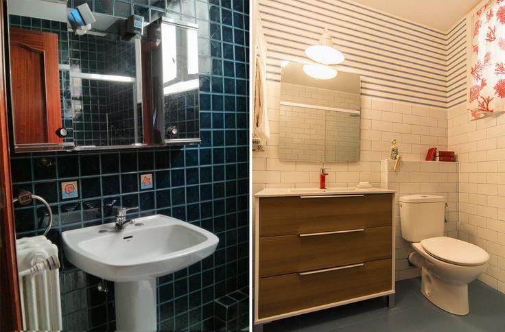 Reforma Baño Donosti:baño #obra #reforma #bainugela #bathroom #salledebain #toilette #