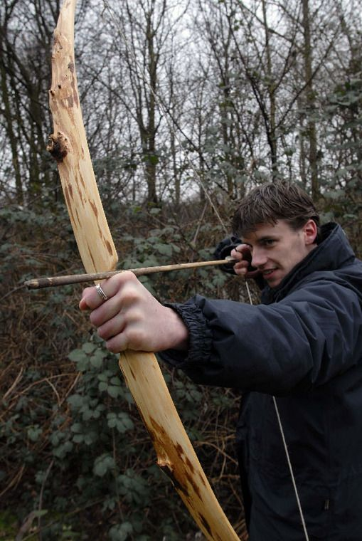 Yew flatbow, mostly sapwood. in Archery - Primitive Bows Forum