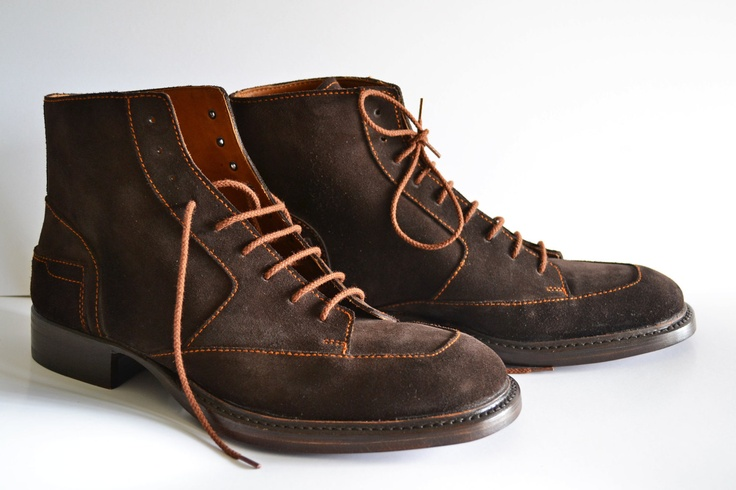 Handmade genuine Leather Classic Men Ankle Boots - MADE TO ORDER -. €310.00, via Etsy.