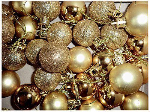 Christbaumkugeln gold 3cm Ø Kunststoff matt/glanz/Glitter 24er Pack finde hier noch mehr http://www.woonio.de/p/christbaumkugeln-gold-3cm-o-kunststoff-mattglanzglitter-24er-pack/