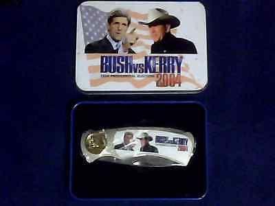Bush Vs Kerry 2004 Presidential Election Pocket Knife With Original Box