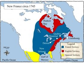 The 123 best canada images on pinterest canada north america and this map shows how the colonies of the new world were divided between france england gumiabroncs Choice Image