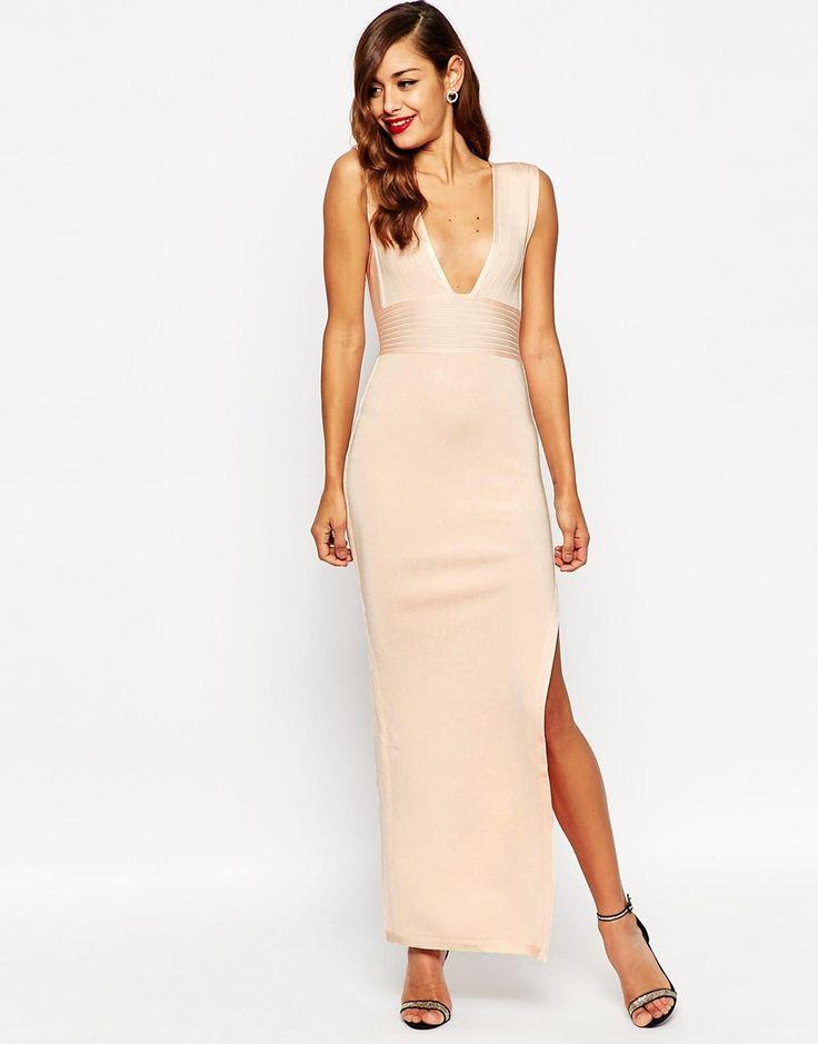 ASOS – RED CARPET SCULPT – Premium – Tief ausgeschnittenes Kleid mit Bandagen