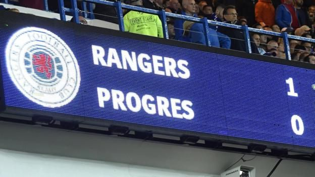Rangers fans welcomed their side back into European competition Disciplinary proceedings have been opened against Rangers after objects were allegedly thrown during their return to European football, governing body Uefa has confirmed. Rangers secured a 1-0 first-leg win over Luxembourg's...