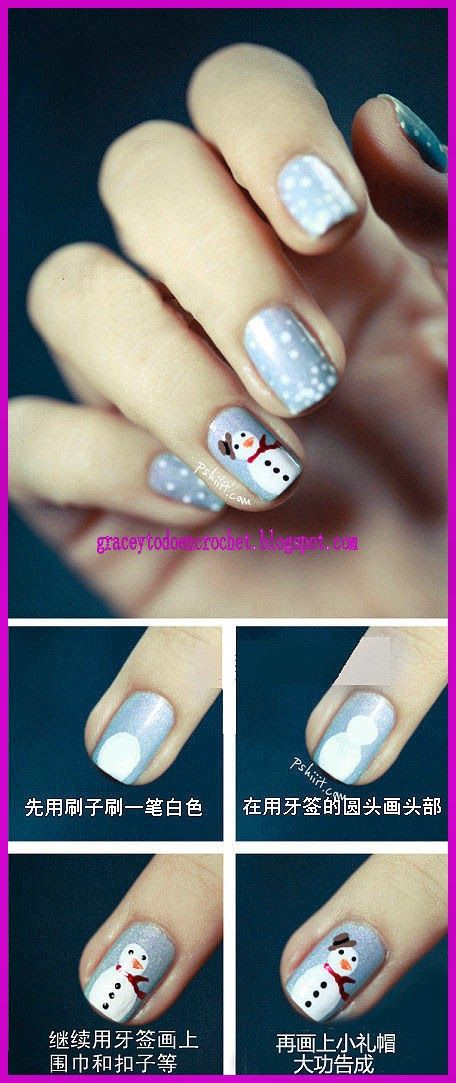 Latest nail designs for Christmas...Últimos diseños de uñas para estas navidades!