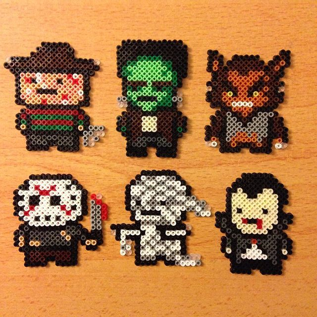 Scary characters hama beads by  evichuchan