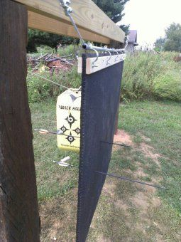 Archery backstop of rubber horse stall mat