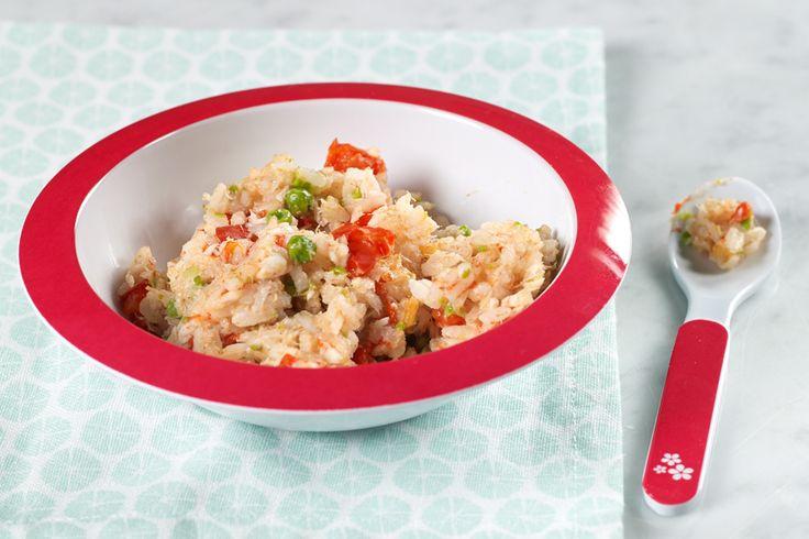 Heerlijk genieten van la buona cucina italiana met je kleine bambino? Maak dan deze tomatenrisotto met schelvis, paprika en erwtjes en een simpelere variant voor je baby (+12 maanden). Snel klaar, en superlekker. Zo voed je een echte kleine fijnproever op!