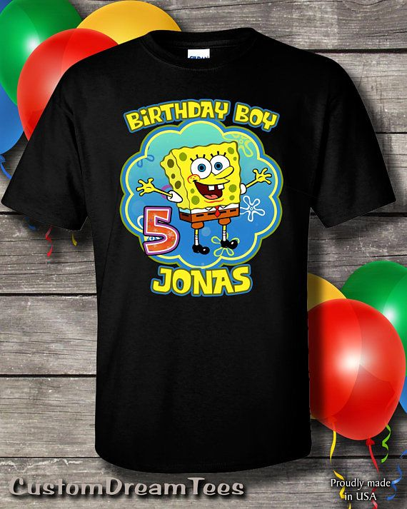 SpongeBob Birthday Shirt Sponge Bob Personalized