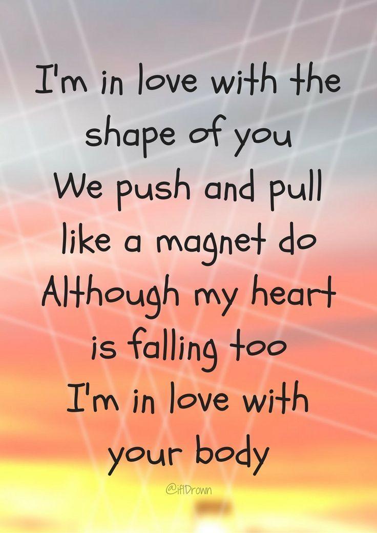 Shape Of You Ed Sheeran Popular Song Lyrics Song Lyric Quotes Shape Of You Ed