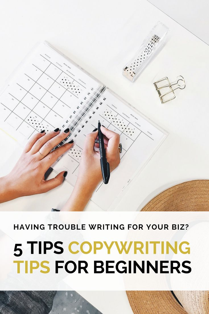 Do you struggle with writing for your brand? Check out these five copywriting tips for bloggers and beginners!