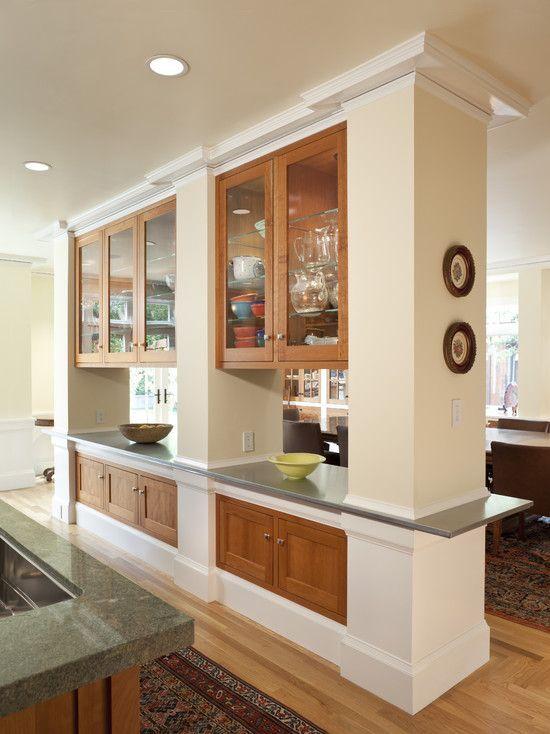 Semi open plan kitchen ideas