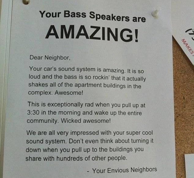 Dear neighbour...