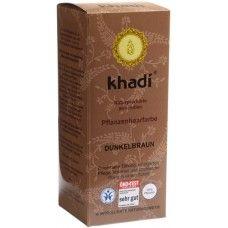 Khadi Растительная Темно-коричневая краска для волос, 100 г