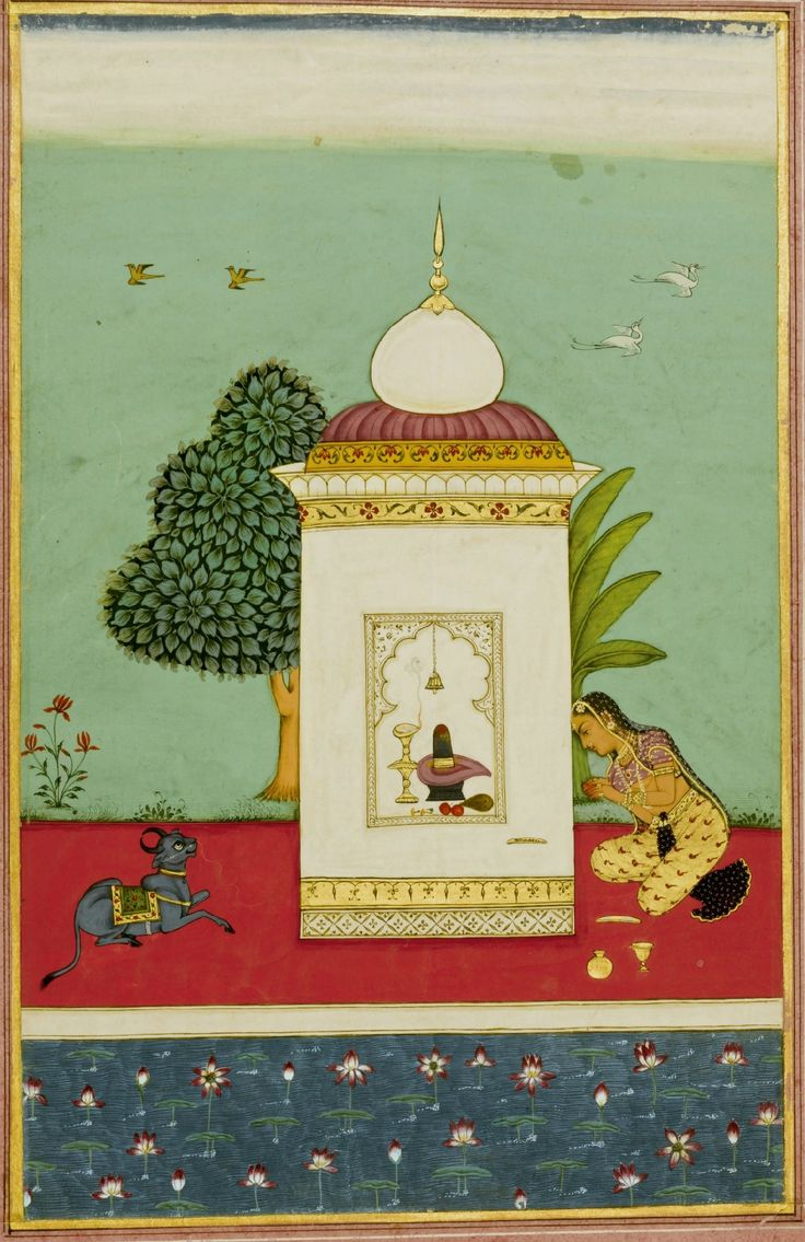 An illustration from a Ragamala series: Bhairavi Ragini, Deccan, Hyderabad, circa 1700