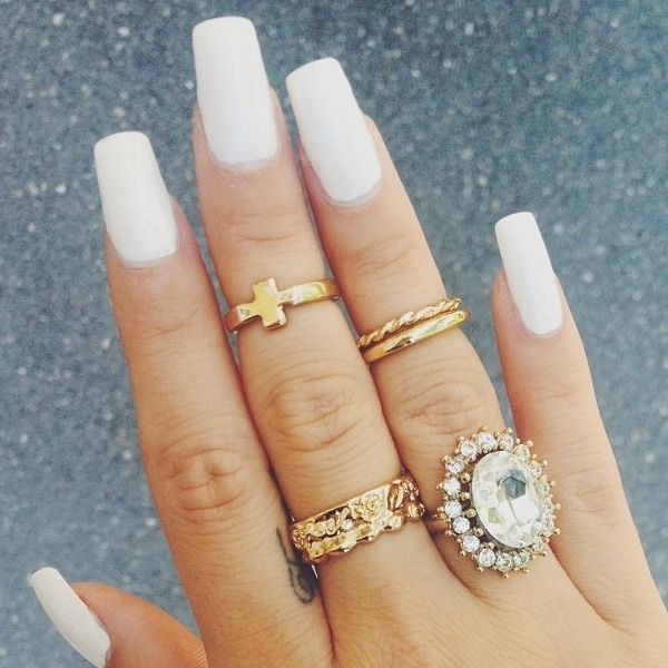 Nails Just Look Better With A Diamond Ring On Your Finger: 1000+ Ideas About Long White Nails On Pinterest