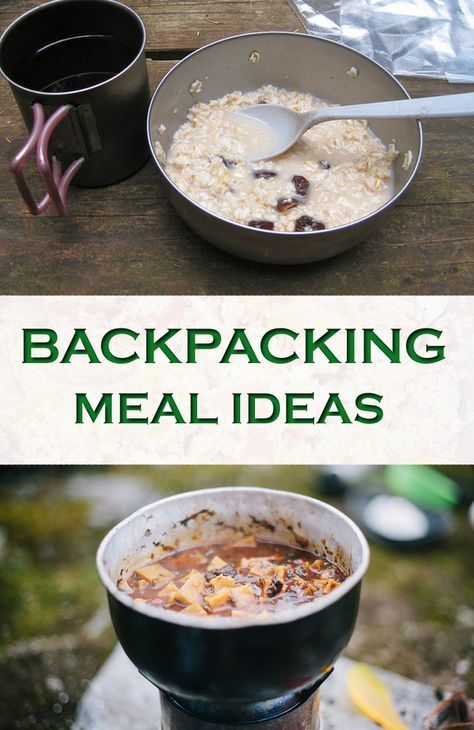 Get over 10 tasty, quick lightweight backpacking meal ideas for DIY thru hiking and camping food.