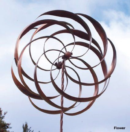 Kinetic wind sculptures are beautiful pieces of art that incorporate the clever use of sculpted blades which spin in the wind creating numerous patterns.