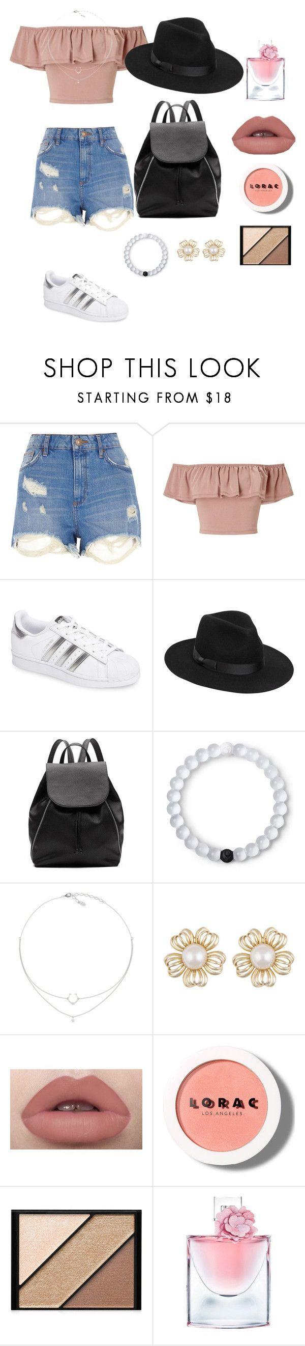 """How to wear Summer"" by leah-1x on Polyvore featuring River Island, Miss Selfridge, adidas, Lack of Color, Witchery, Lokai, LORAC, Elizabeth Arden and Lancôme"