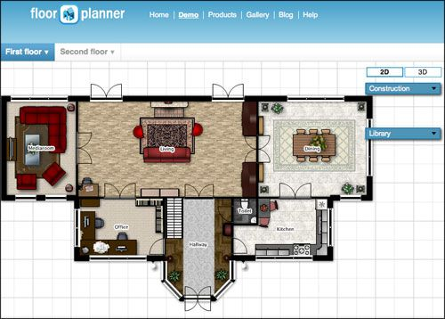 Floor Planner: free floor planner - I really liked using this. It accounts for the width of walls, etc, so it can be used for more professional grade projects of needed. Has furniture that looks like Ikea items.