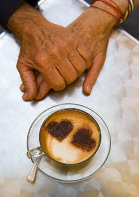 two hearts and one coffee <3