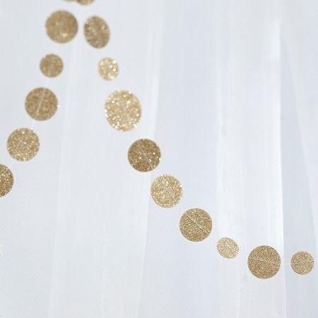 Confetti slinger goud