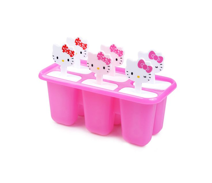 Keep cool all summer long with this super cute Hello Kitty ice candy mold. Fill it up with your favorite juice (or even pudding), freeze, pop out, and enjoy your frozen treat