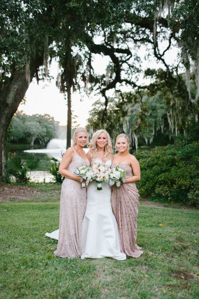 Small bridal party: http://www.stylemepretty.com/little-black-book-blog/2015/02/16/enchanting-elegance-at-legare-waring-house/ | Photography: Clay Austin - http://www.clayaustinphotography.com/