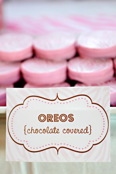 Pink Oreos, Komen bake sale idea!!