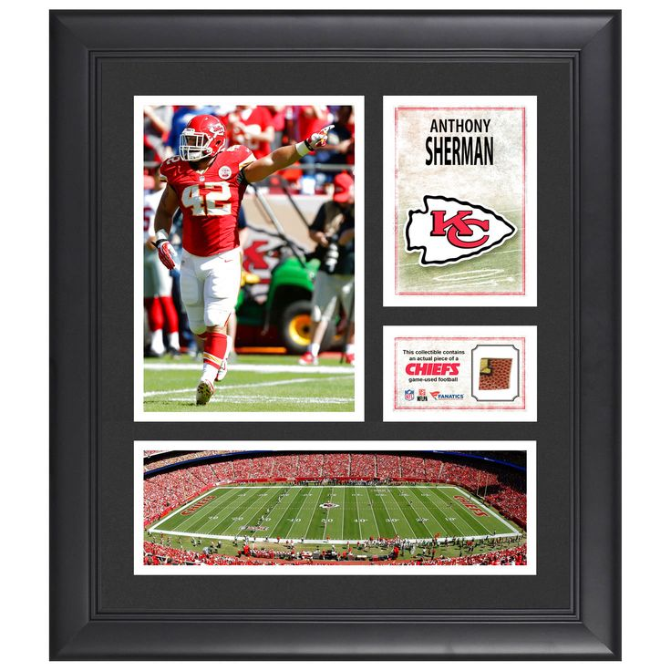 "Anthony Sherman Kansas City Chiefs Fanatics Authentic Framed 15"" x 17"" Collage with Piece of Game-Used Football - $63.99"