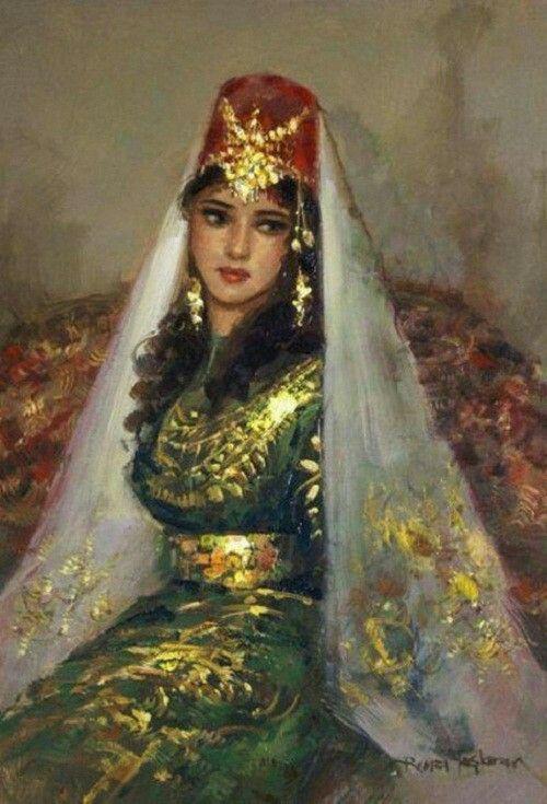 Turkish beauty in Paintings of Remzi Taşkıran.. Prominent Turkish painter Ramzi Taskiran (Remzi Taşkıran) was born in 1961 in the city of Adiyaman, Turkey