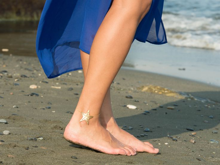 ACTINA.Contemporary Jewellery   ESTRELLA DEL MAR ankle bracelet   Available in Sterling silver (925) and Gold plated sterling silver     SEA SHELLS SUMMER COLLECTION 2017