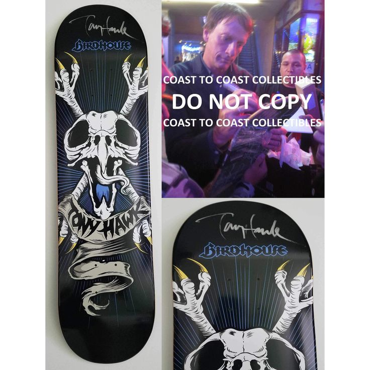 Tony Hawk, Signed, Autographed, Birdhouse Skateboard Deck, A COA with the Exact Proof Photo of Tony Signing Will Be Included