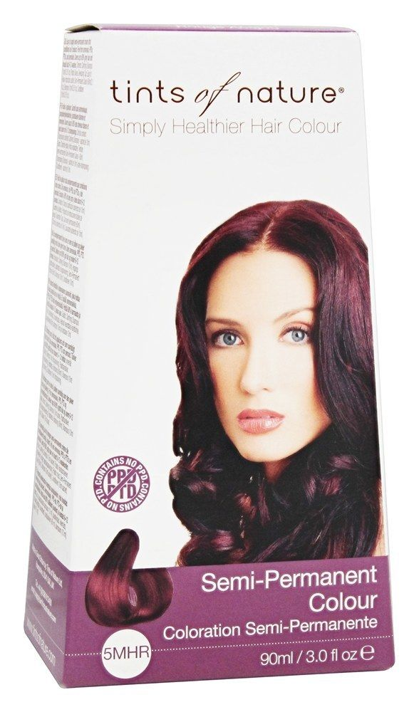 Tints of Nature Semi-Permanent Hair Color 5MHR Mahogany Red -- Vegan semi-permanent red hair dye!