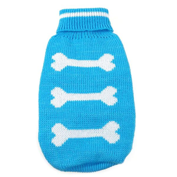 Dog-Cat-Pet-Sweater-Knitwear-Cozy-Warm-Bones-Coat-Clothes-Outwear-Small-to-Large