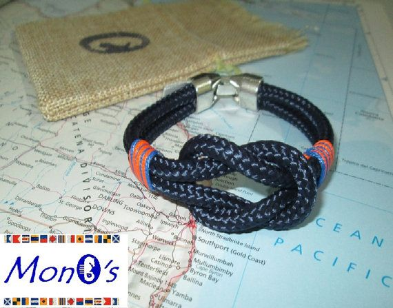 Bracciale con chiusura in Zamak Blue - Men's nautical bracelet with zama clasp