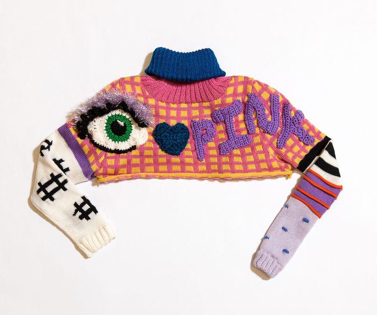 knit cropped sweater by DEGEN for the Voctoria's Secret Fashion Show