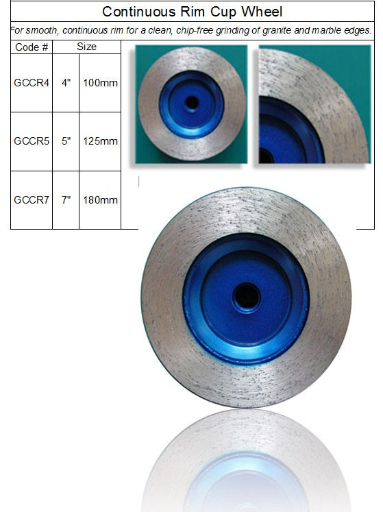 Diamond Rim Grinding Cup Wheel made by RM Tech Korea (StoneTools Korea®) provides the highest quality; world top selling more than 500 sets monthly