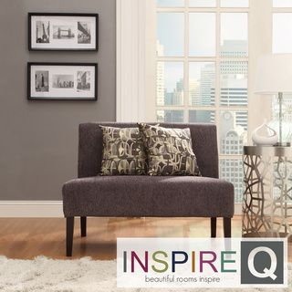 inspire q kayla burgundy grey chenille armless loveseat shopping great deals