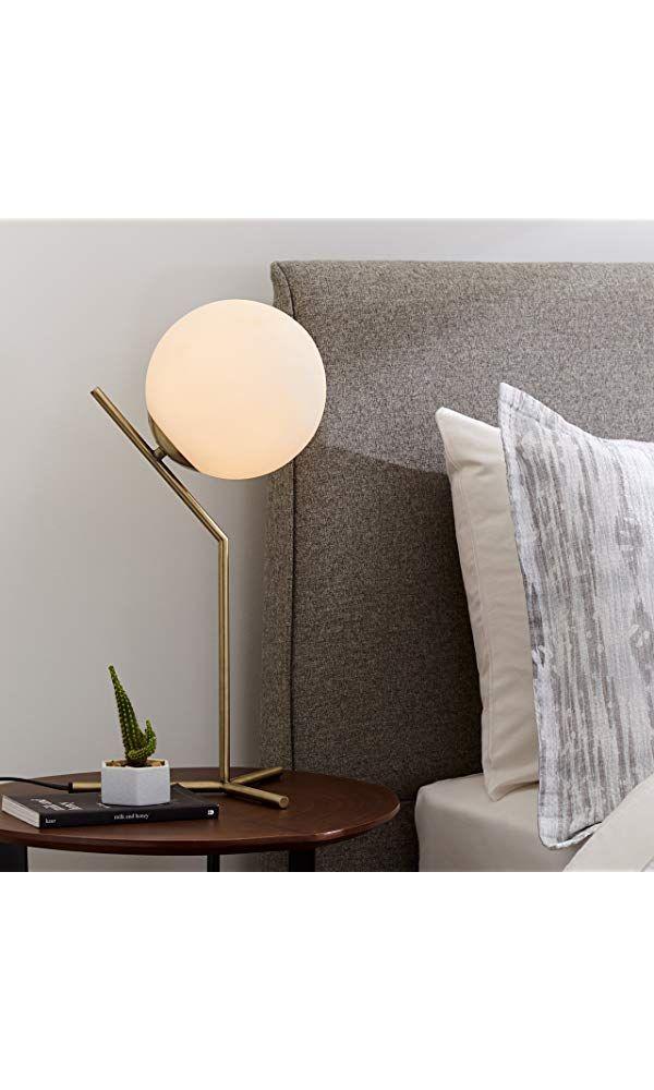 Rivet Glass Ball And Ang Metal Table Lamp With Bulb 21 5 H Brass Metal Table Lamps Table Lamp Lamp