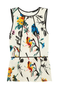 floral peplum: Chine Peplum, Peplum Tops, Tibi Floral Prints, Crepes, Floral Prints Silk, Silk Crepes, Pencil Skirts, Tibi Tops, De Chine