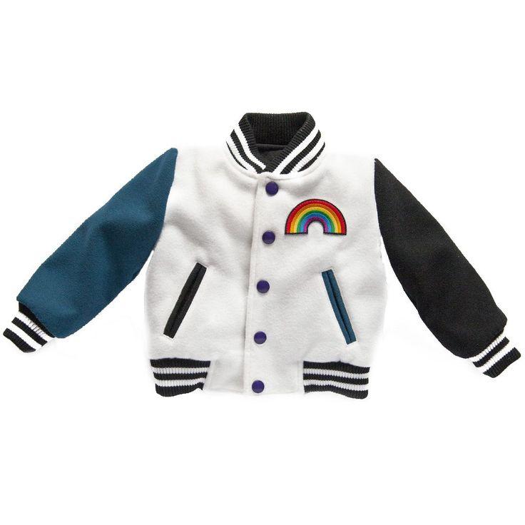 Ultra Violet Kids Letterman Jacket